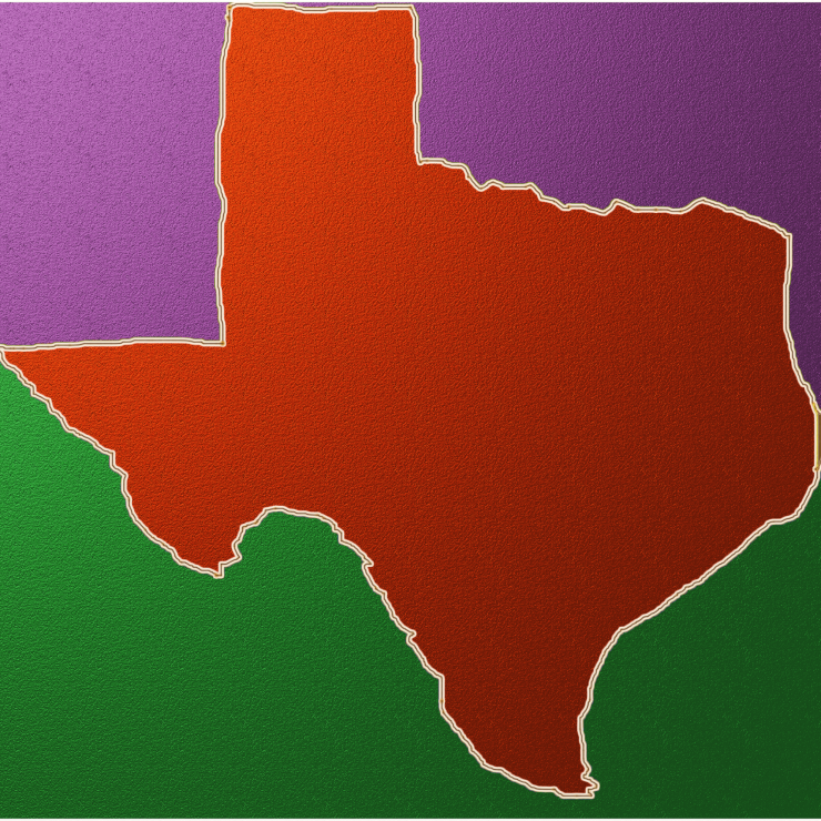 Texas Green Purple Orange