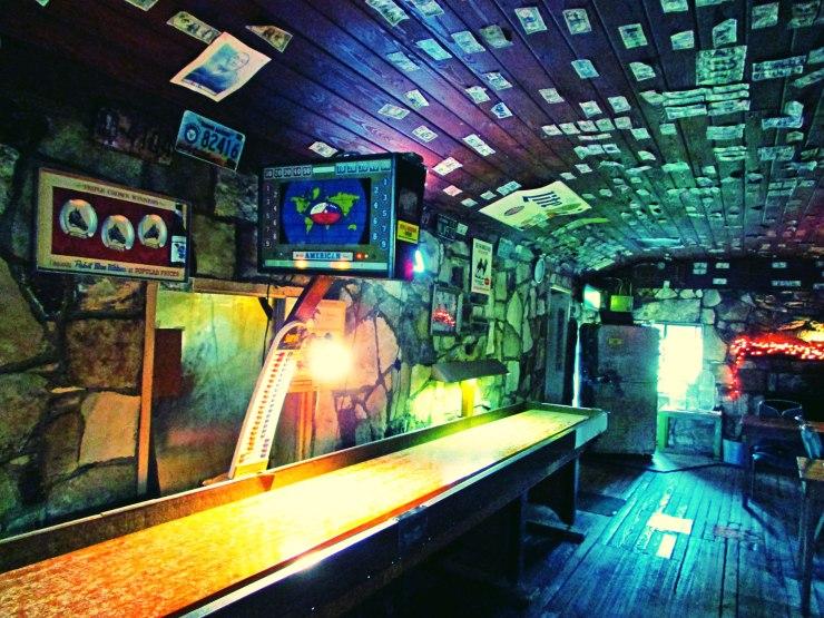 Shuffleboard table at Devil's Backbone Tavern, Fischer, TX Image by Cami Perriraz