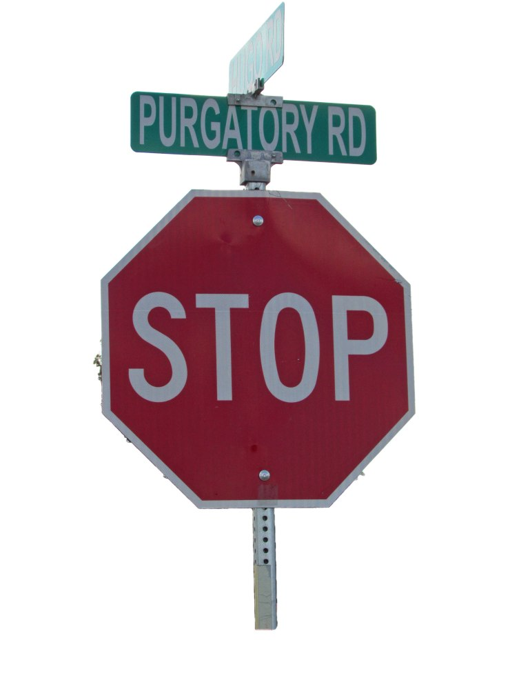Stop sign at Purgatory Road, Fischer, TX Image by Cami Perriraz